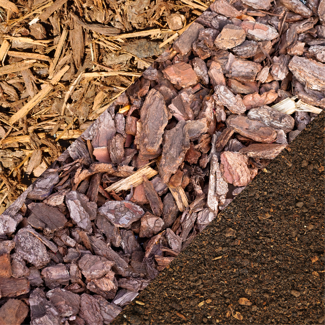 Mulch Bark and Compost